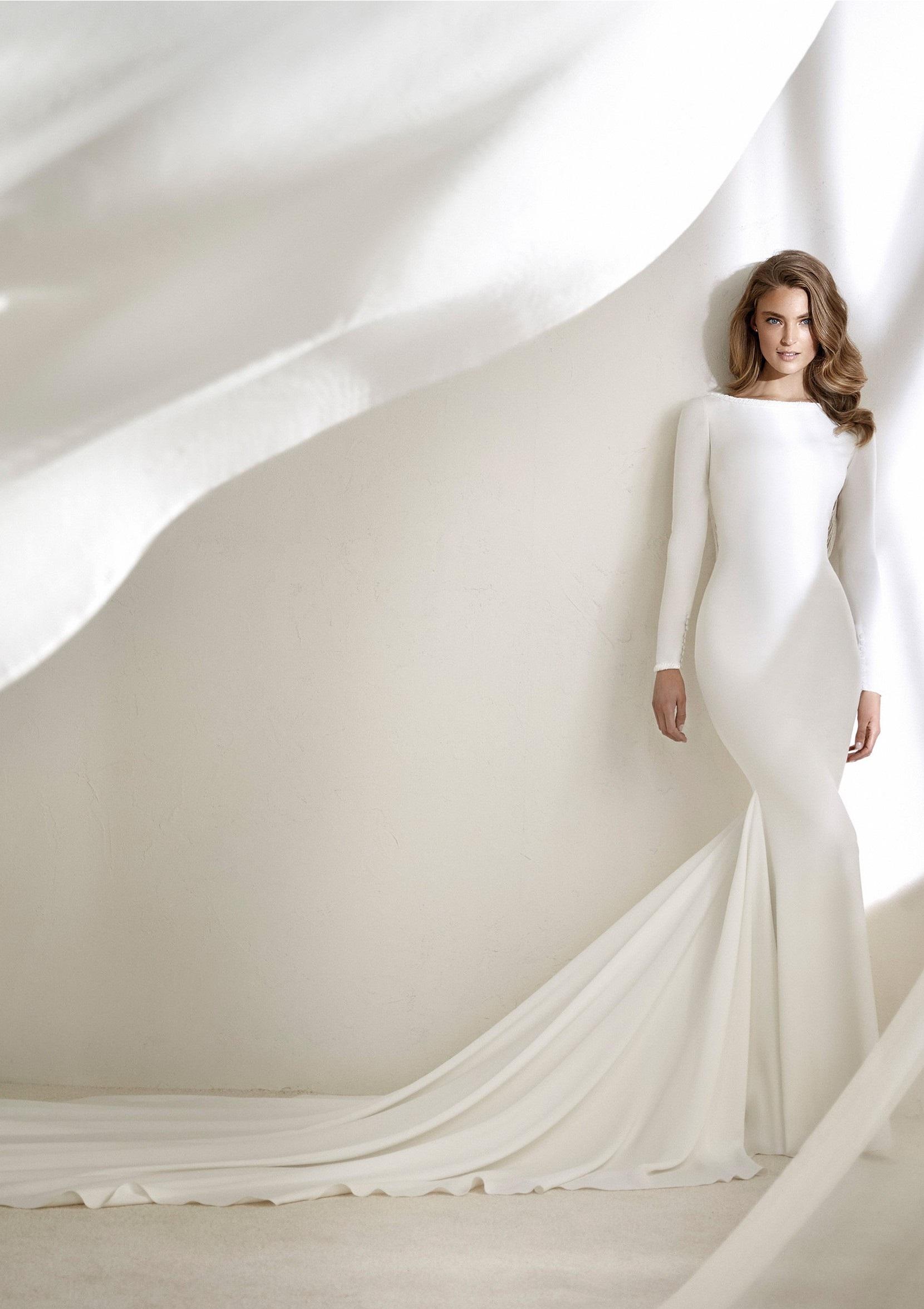 Long Sleeve Understated Wedding Dress Resal by Pronovias