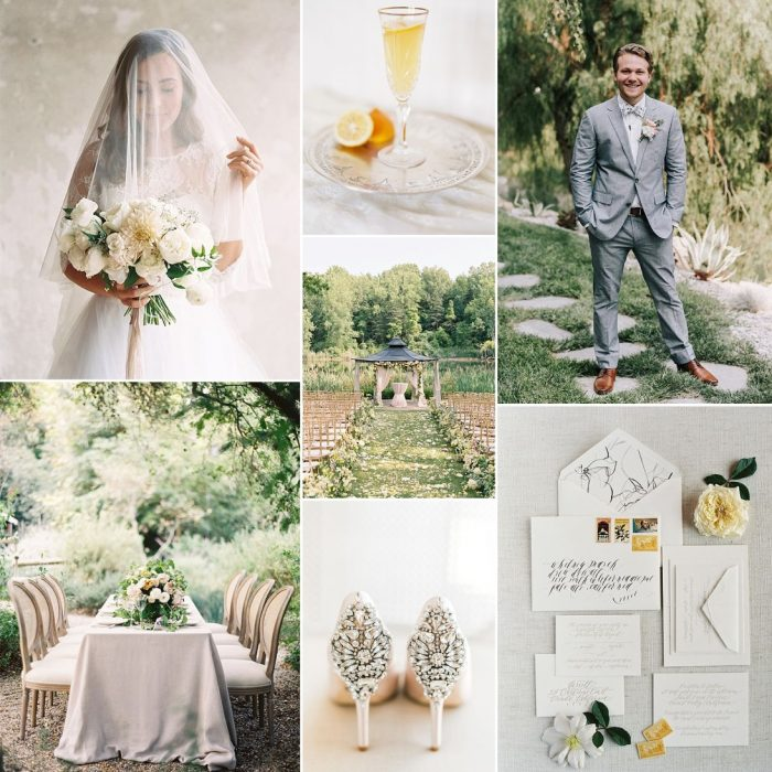 Summer Garden & Sunshine - Chic Garden Wedding Inspiration in Yellow & Grey