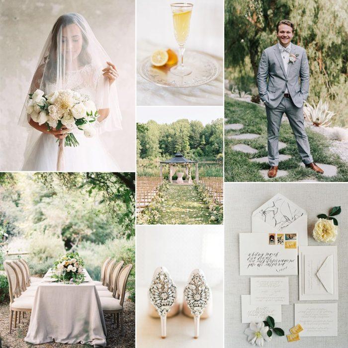 Summer Garden & Sunshine - Chic Garden Wedding Inspiration in Yellow & Grey
