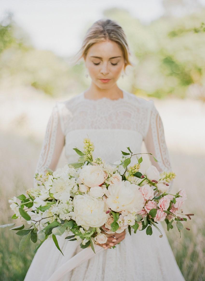Pretty White & Pink Bridal Bouquet