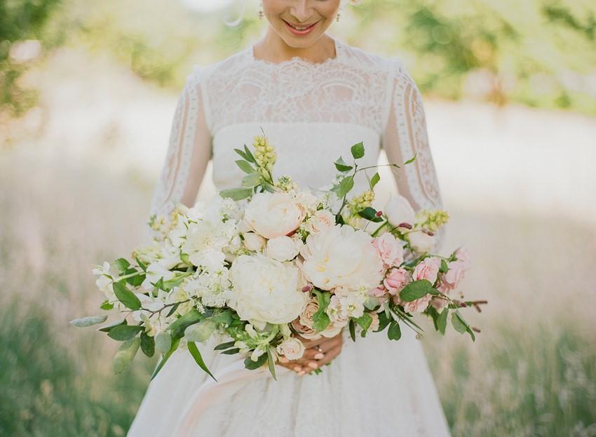 Pink & White Bridal Bouquet