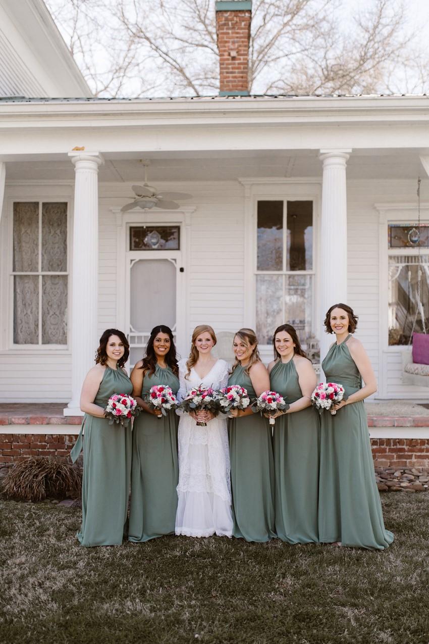 Evergreen Bridesmaids Dresses