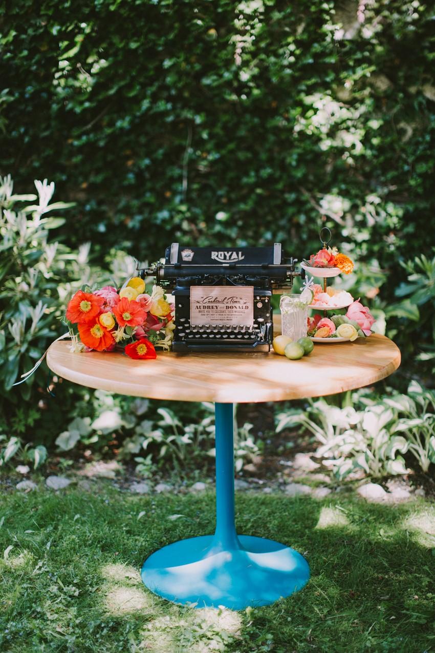 Mid-Century Modern Garden Wedding