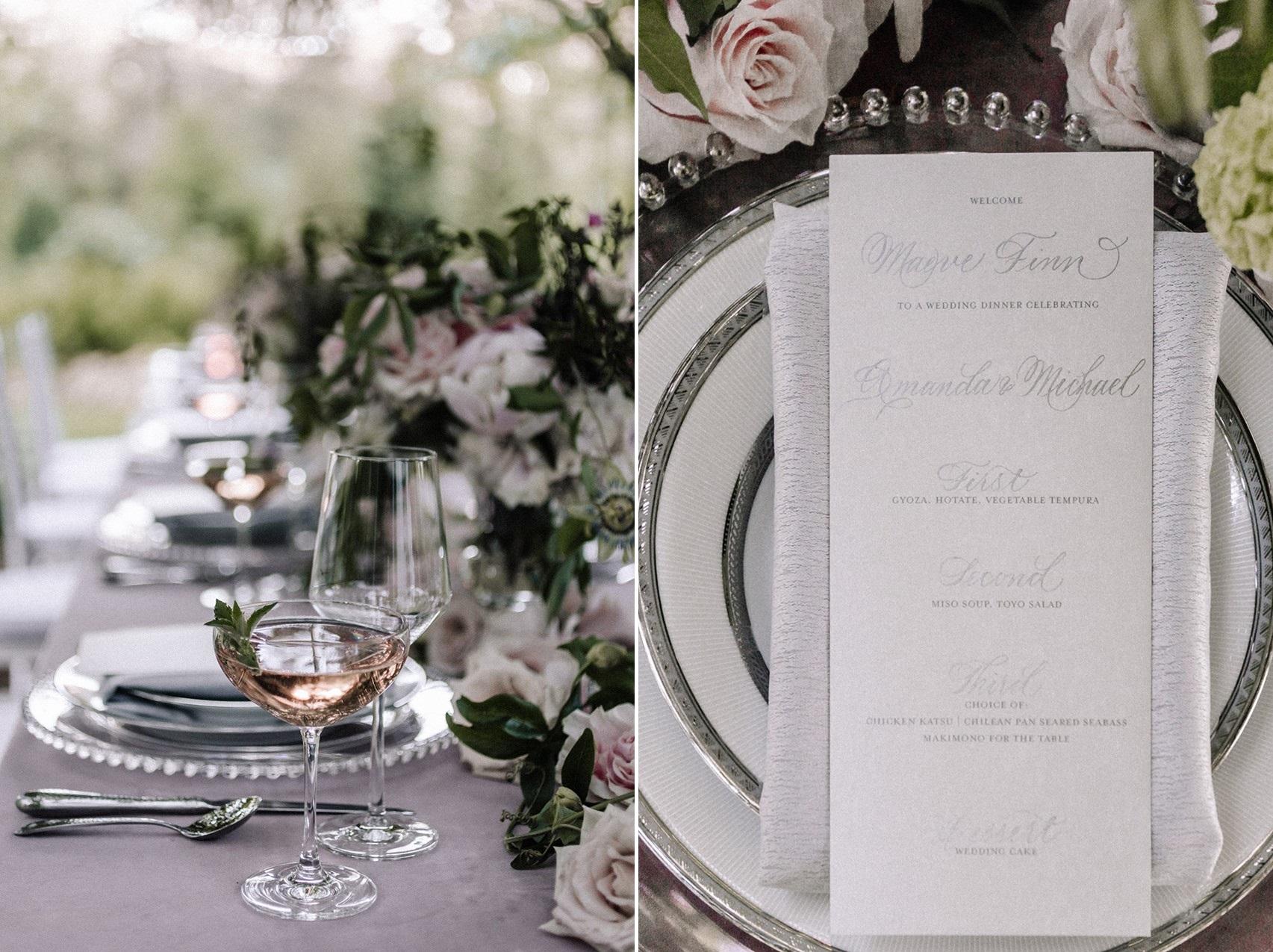 Mauve Wedding Tablescape