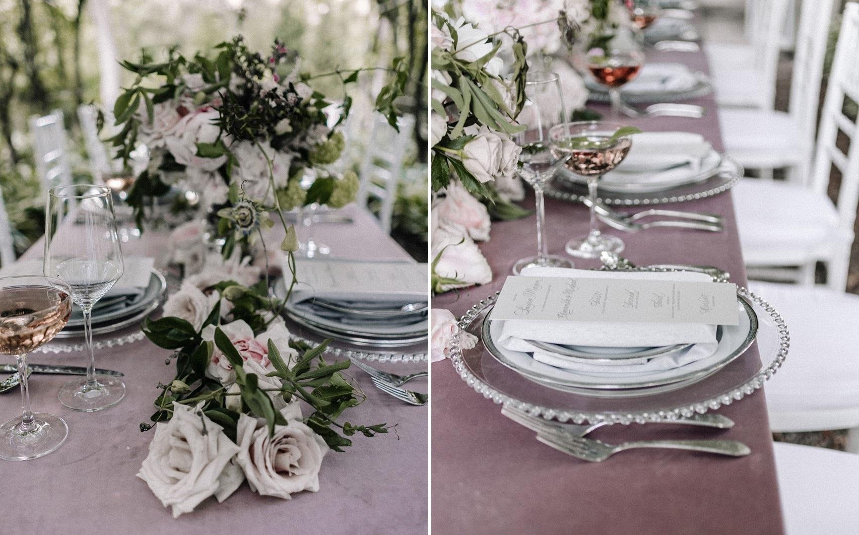Mauve Wedding Table