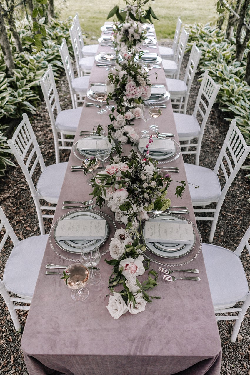 Dusky Pink Wedding Table