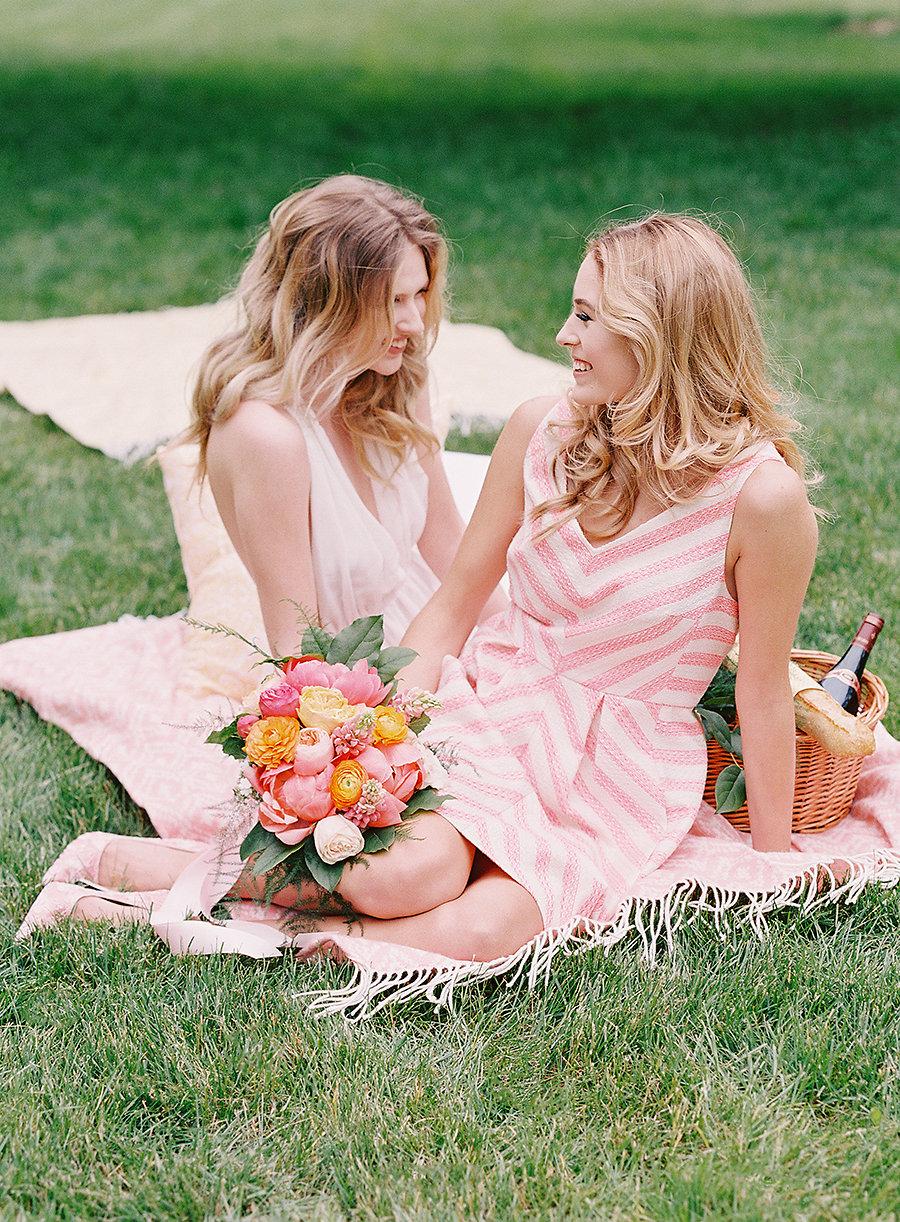Spring Garden Wedding Picnic