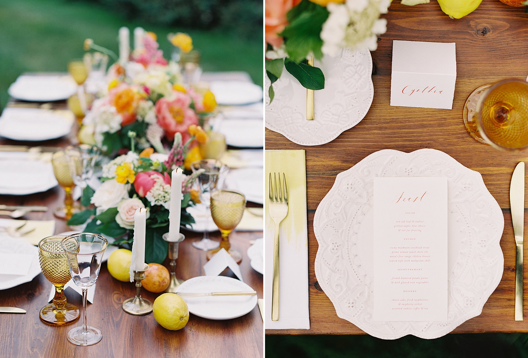 Spring Garden Wedding Tablescape