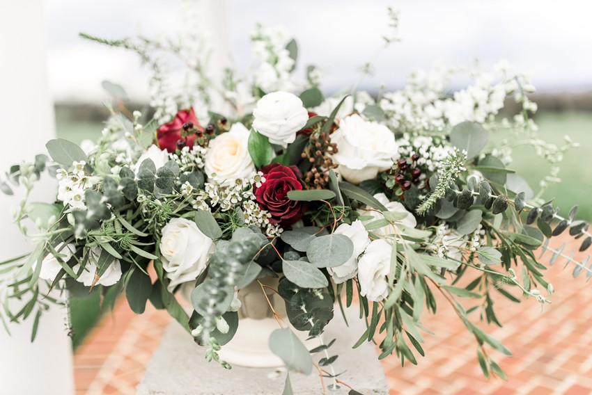 Red & White Wedding Flowers