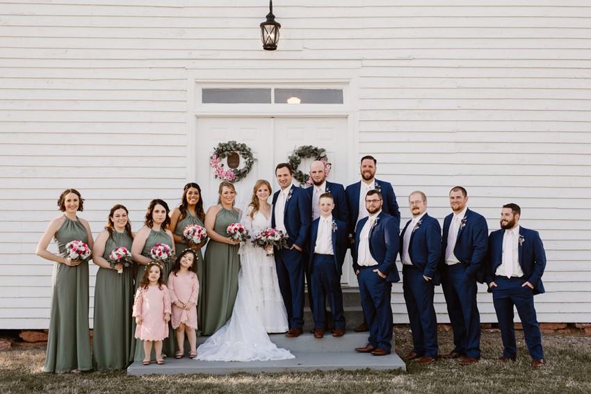 Rustic Vintage Wedding Party
