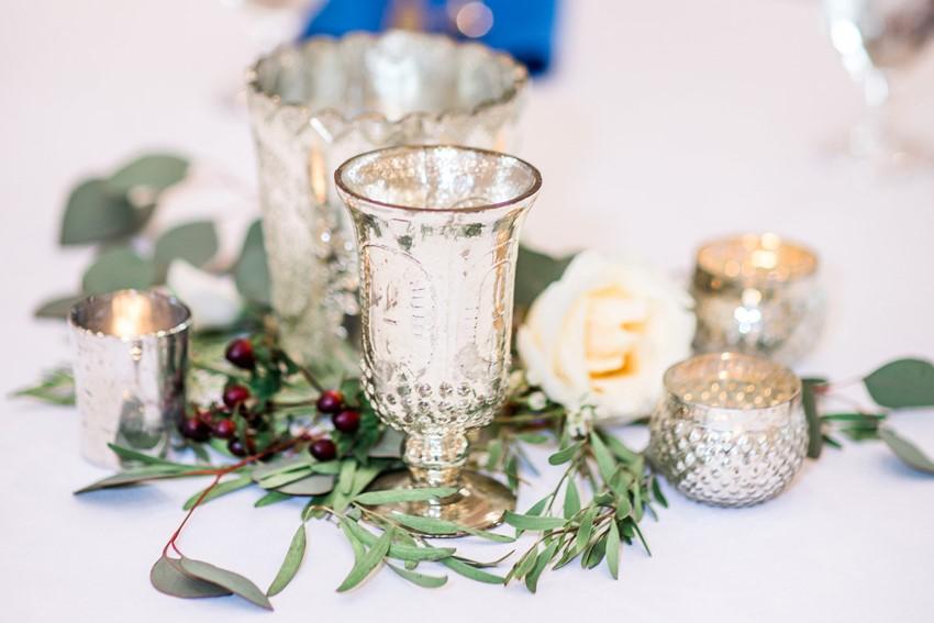 Silver Wedding Centerpieces