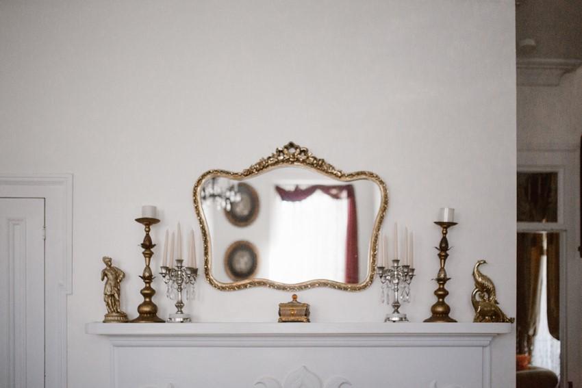 Vintage Mirror Wedding Decor