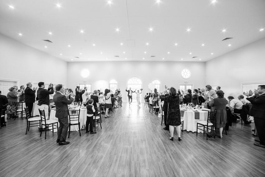 Black & White Wedding Reception Photos