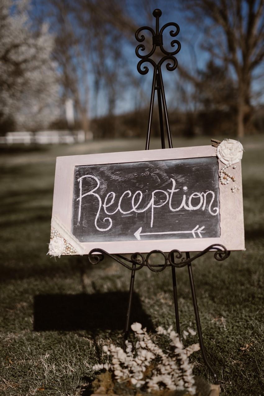 Rustic Vintage Wedding Reception Sign