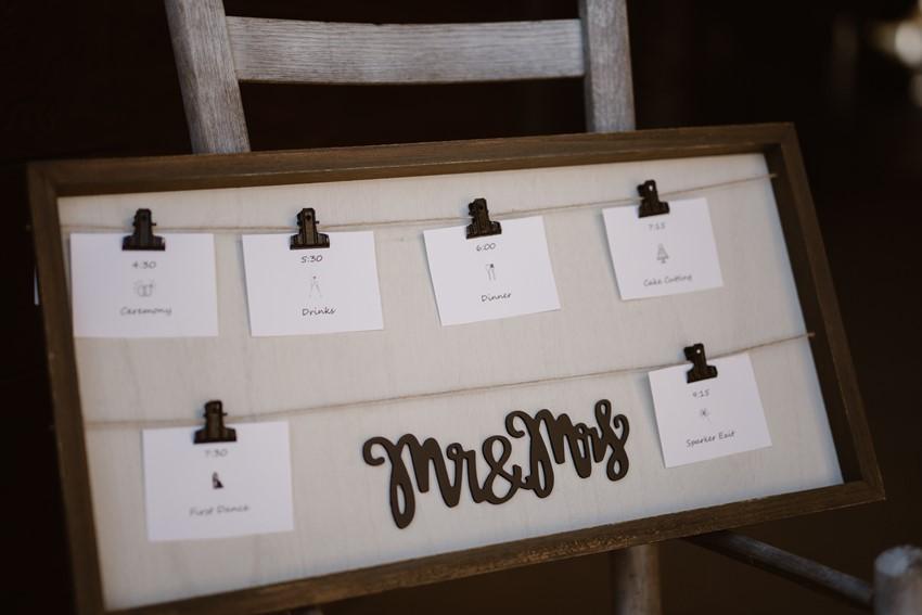 Rustic Vintage Wedding Table Plan