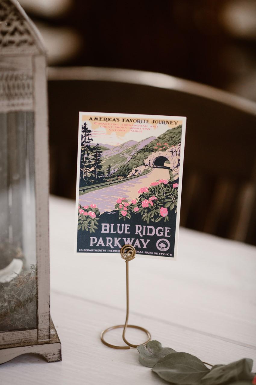 Vintage Postcard Wedding Decor