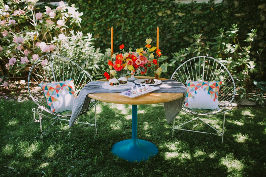 Bold & Bright Mid Century Wedding Table