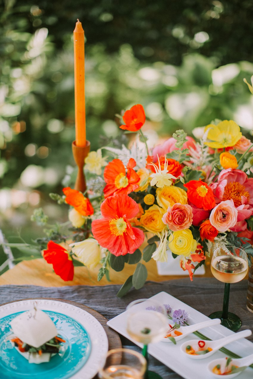Poppy Wedding Centerpiece