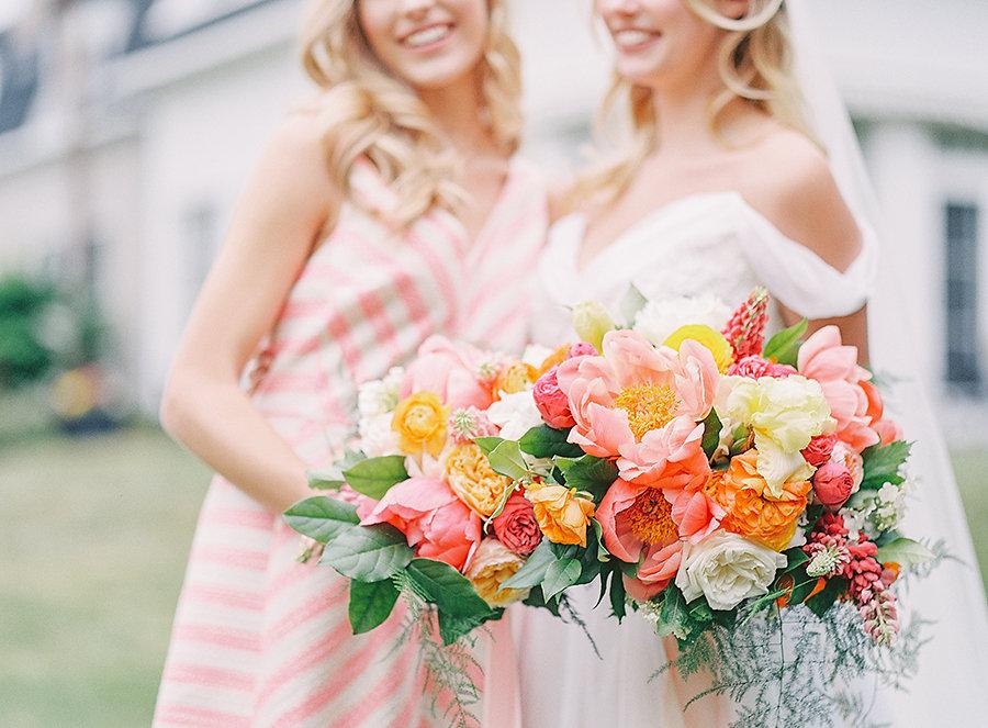 Spring Peony Wedding Bouquets
