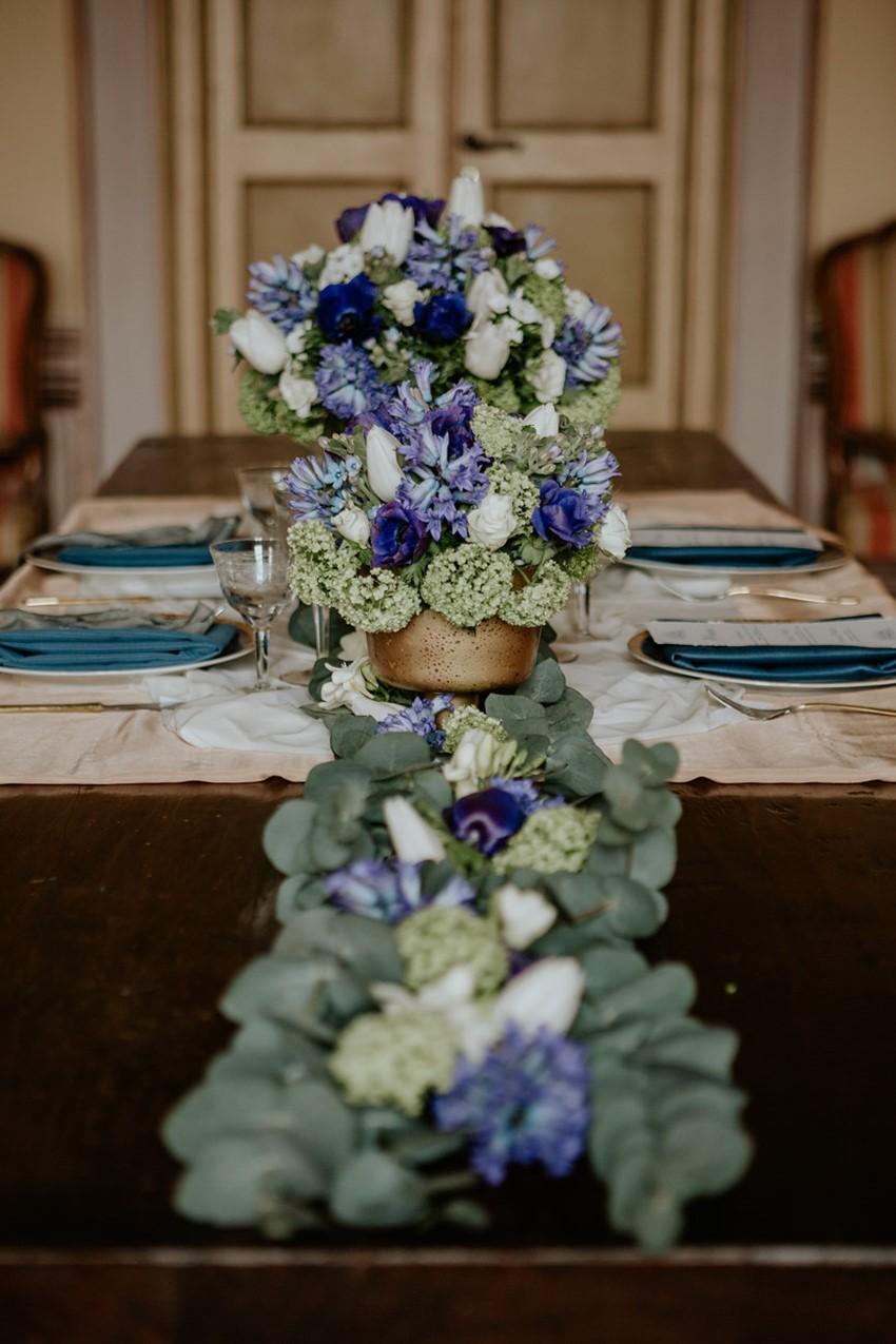 Floral Wedding Table Runner