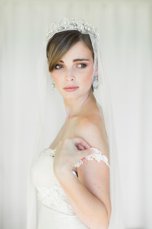 Beaded Floral Bridal Crown Aquarelle