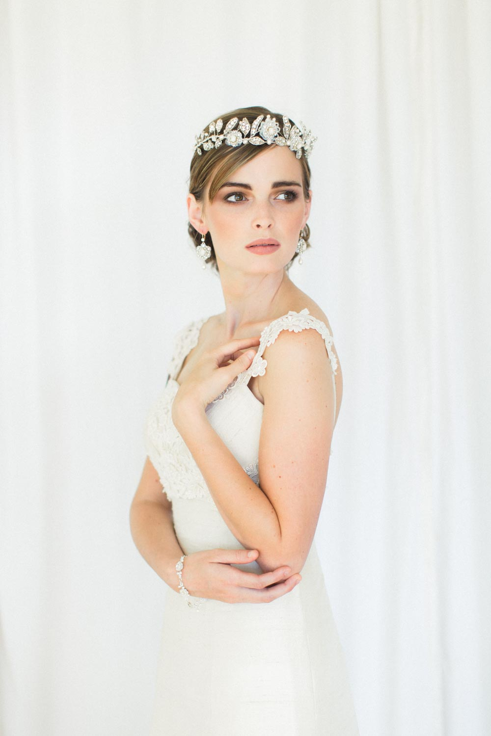 Bridal Crown Tiara Aquarelle