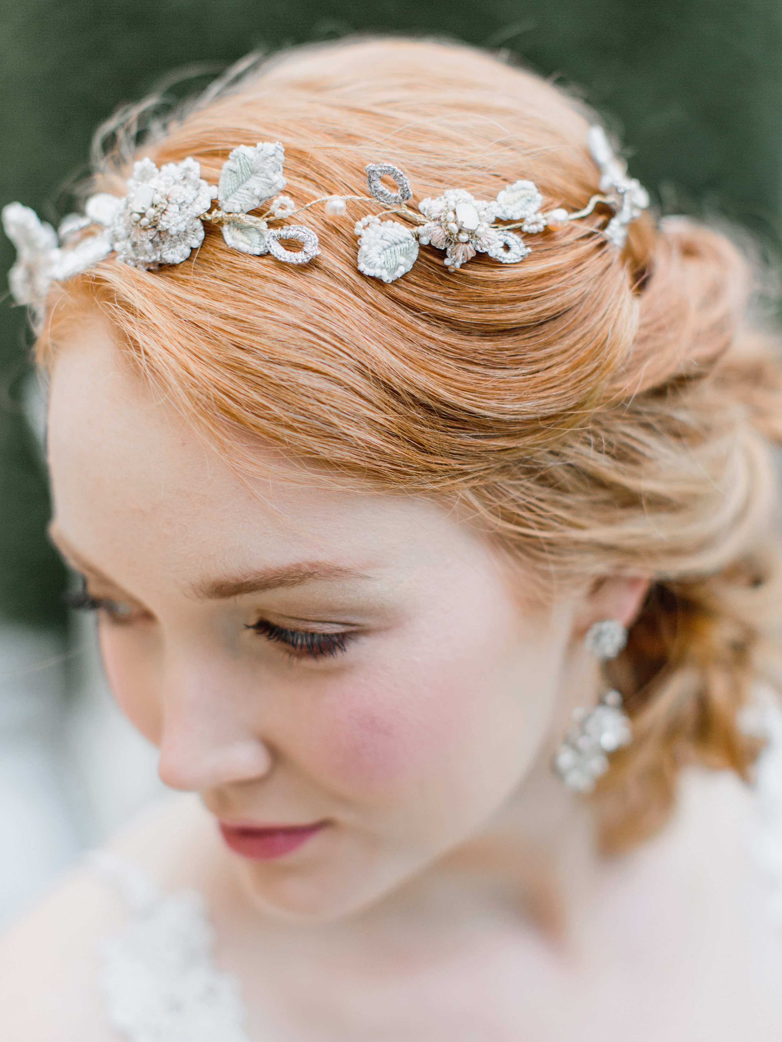 Damask Rose Bridal Tiara Edera