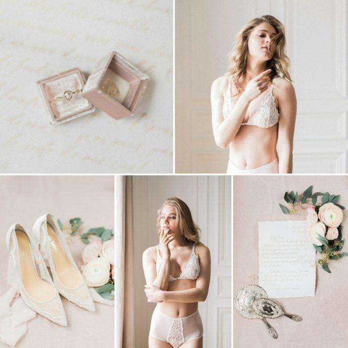 Romantic Paris Bridal Boudoir Shoot