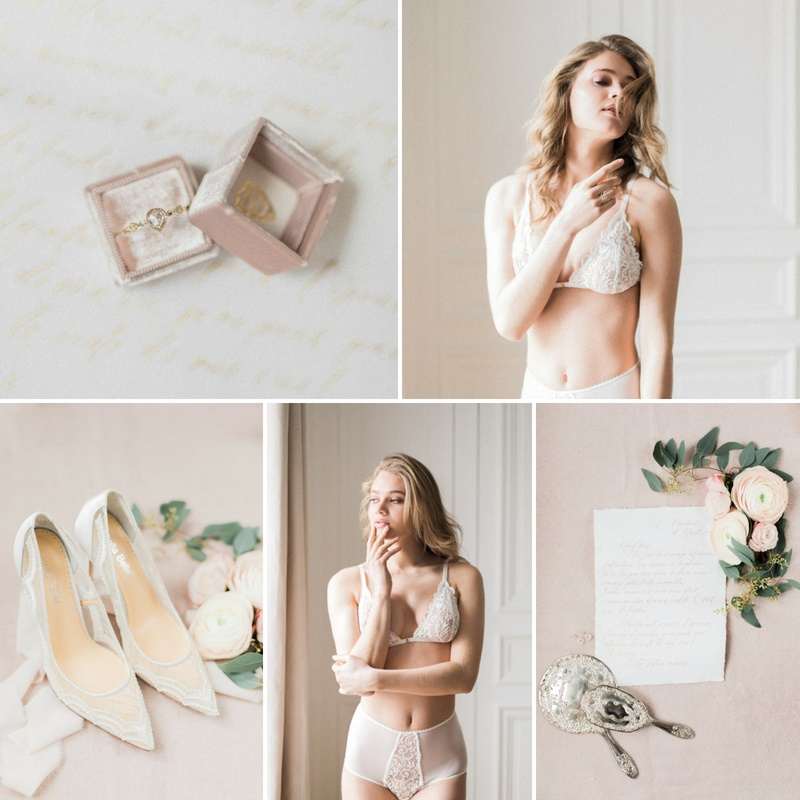 Romantic Paris Bridal Boudoir Shoot