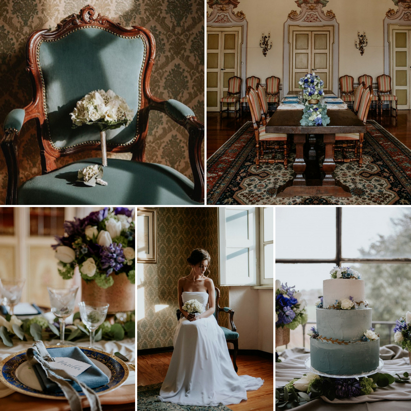 Romantic Regency Wedding Inspiration in Piedmont Italy
