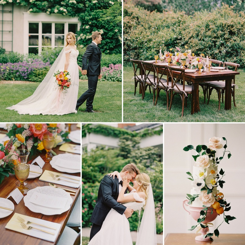 Romantic Spring Garden Wedding at Langdon Hall