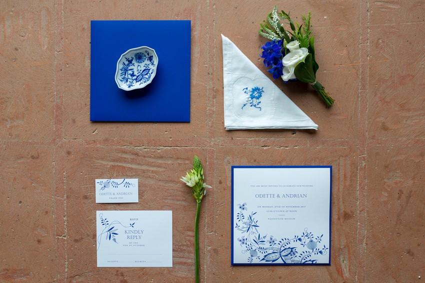 Dazzling Blue Wedding Invitation