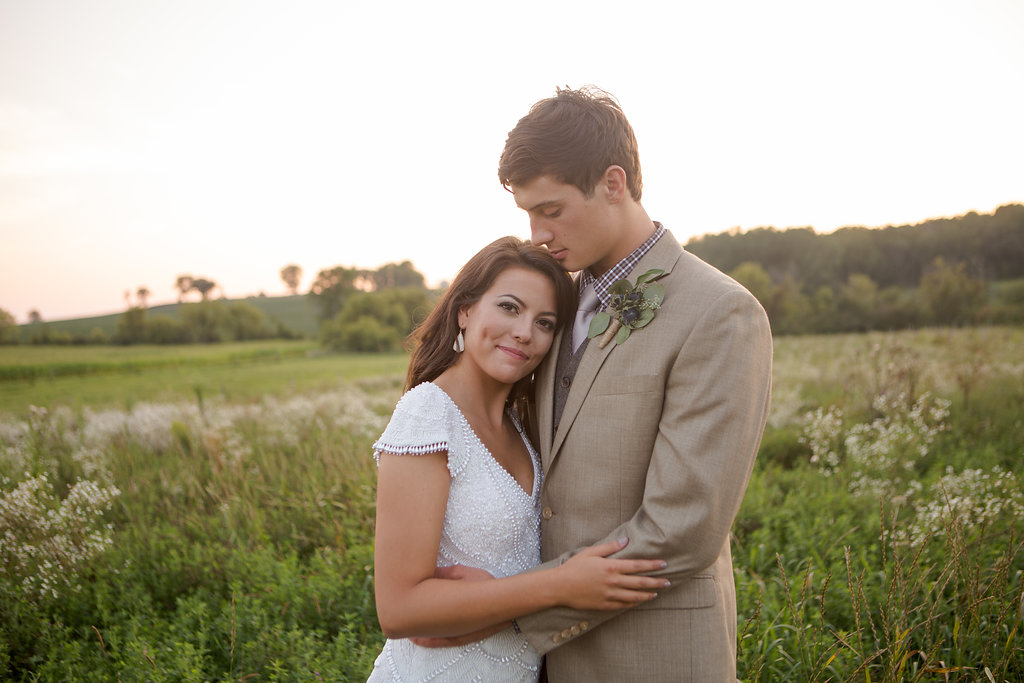 Relaxed & Religious Rustic Vintage Wedding