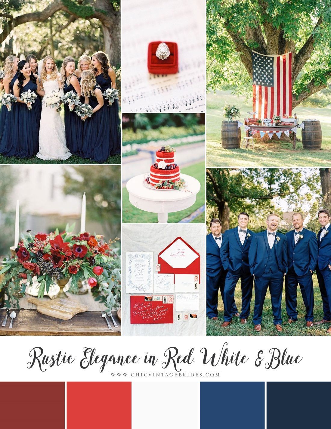 4th of July Wedding Inspiration Board