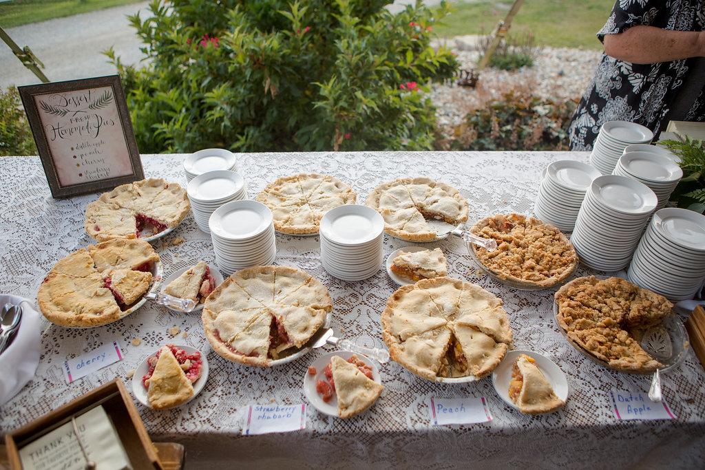 Rustic Wedding Pies