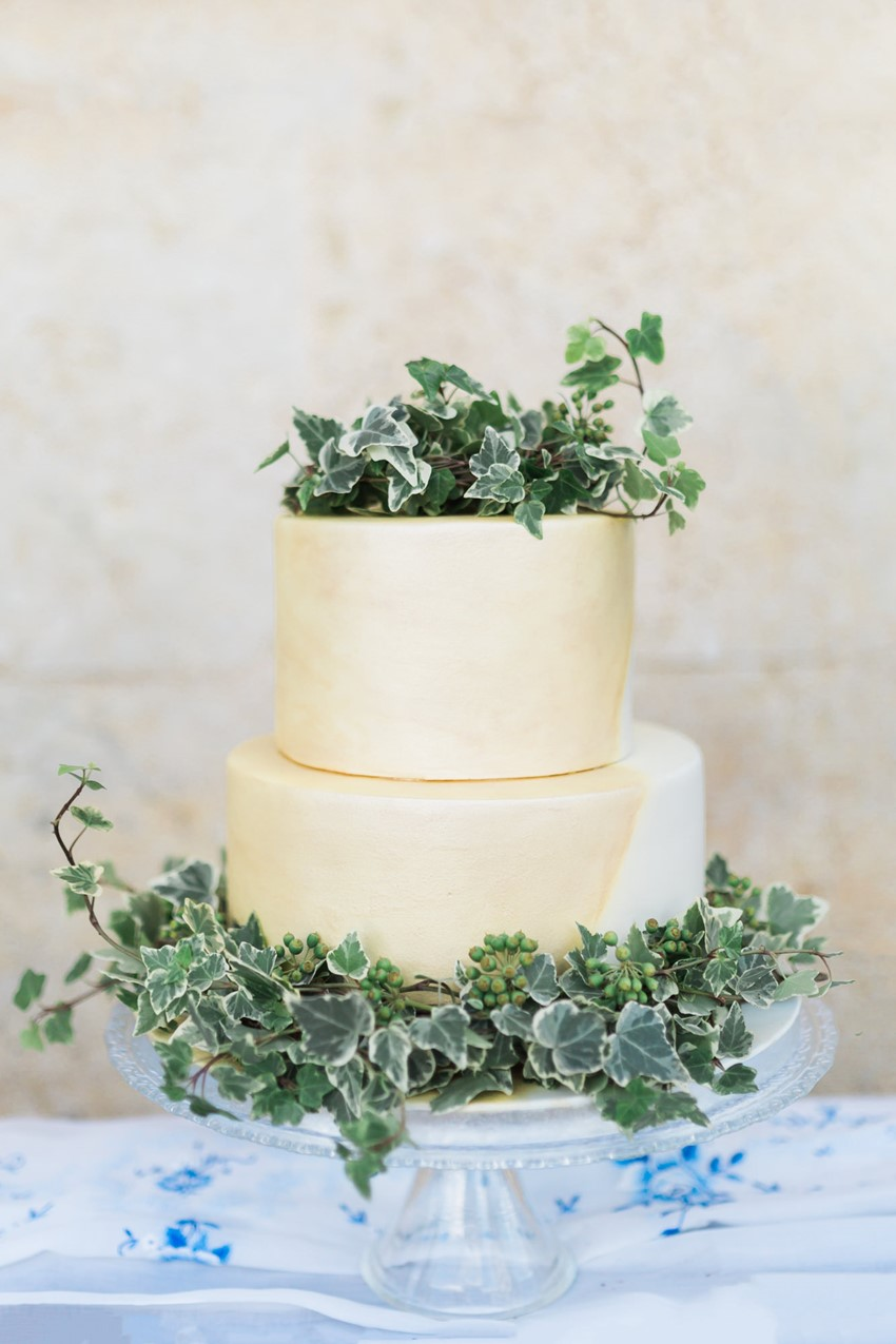 Ivy Decorated Wedding Cake