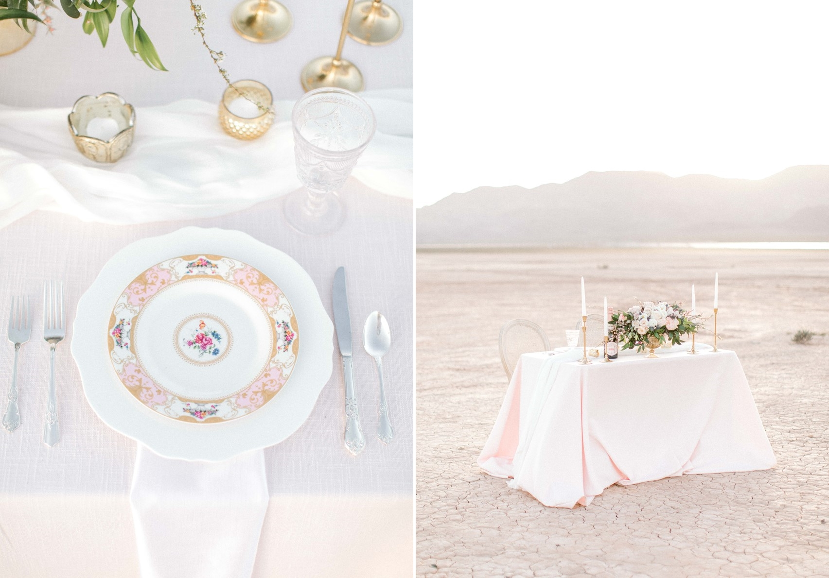 Desert Wedding Place Setting
