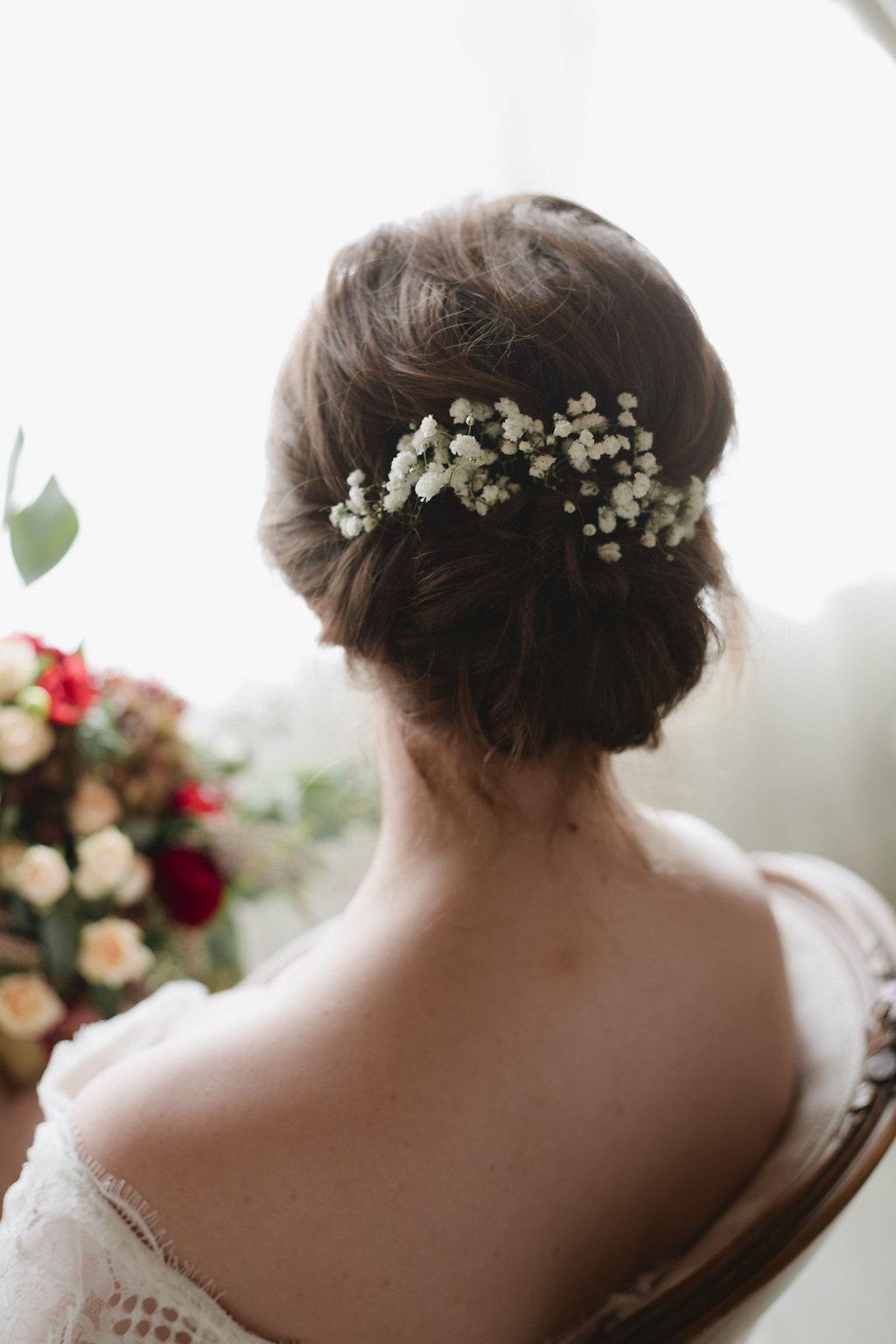 Baby's Breath Bridal Hair