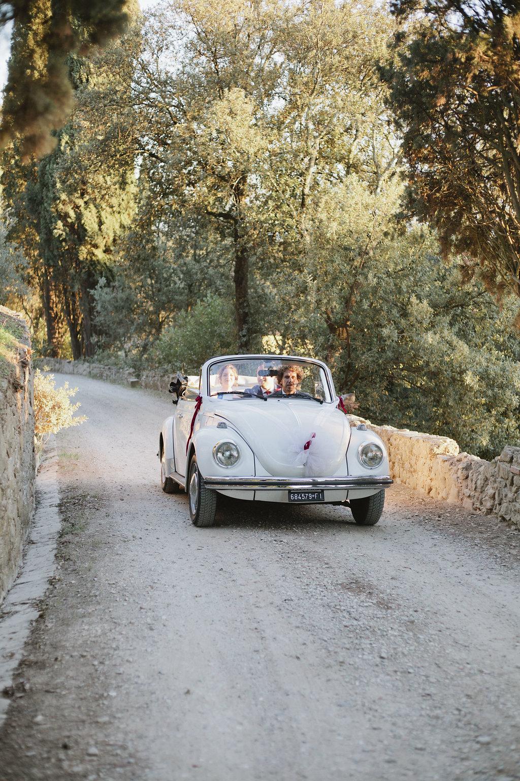 Vintage VW Beetle Wedding Getaway Car