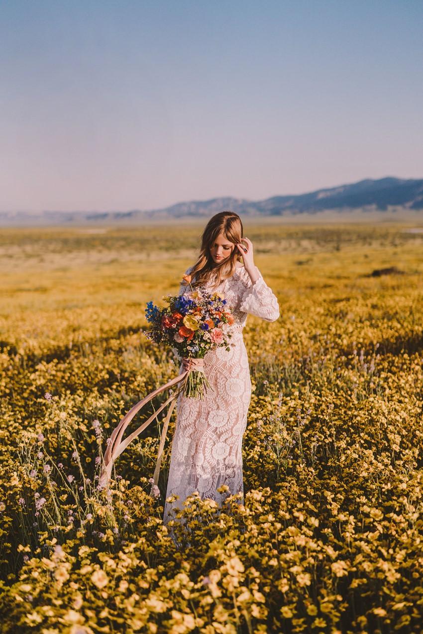 1970s Summer Boho Bride