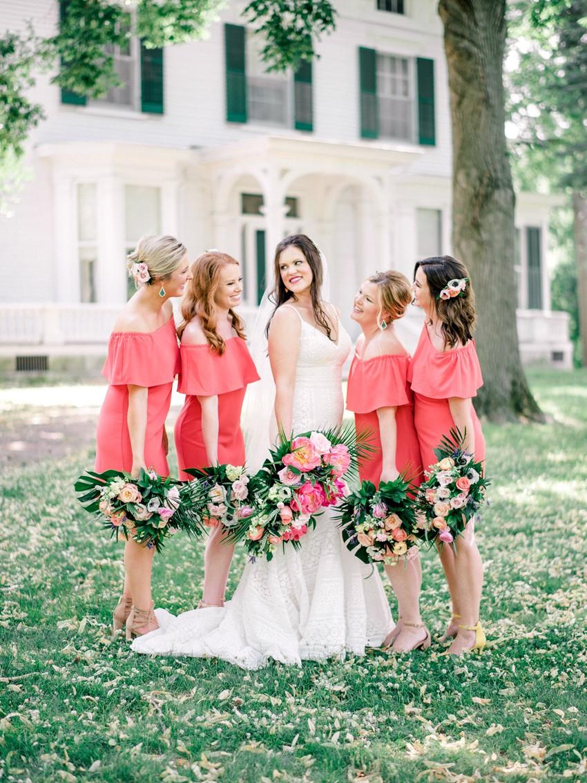 Tropical Bride & Bridesmaids