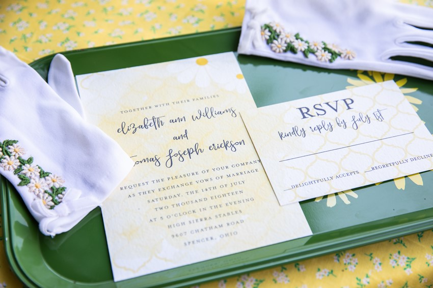 1960s Inspired Wedding Invitation