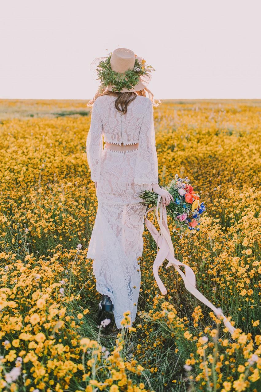 1970s Inspired Boho Summer Bride