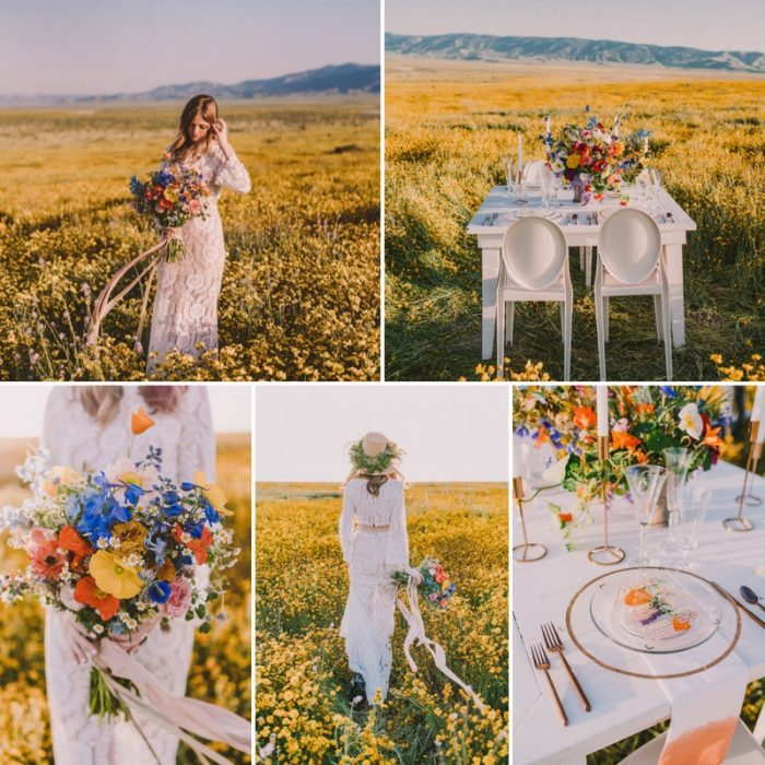 1970s Inspired Boho Summer Wedding Inspiration