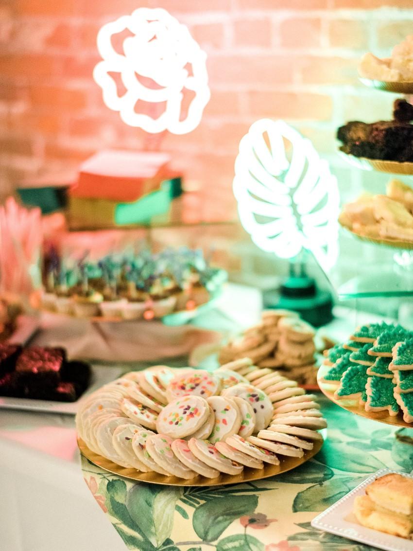 Tropical Wedding Dessert Table
