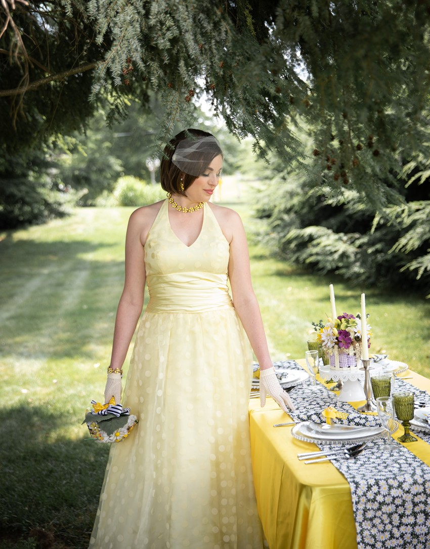 1960s Inspired Bridesmaid