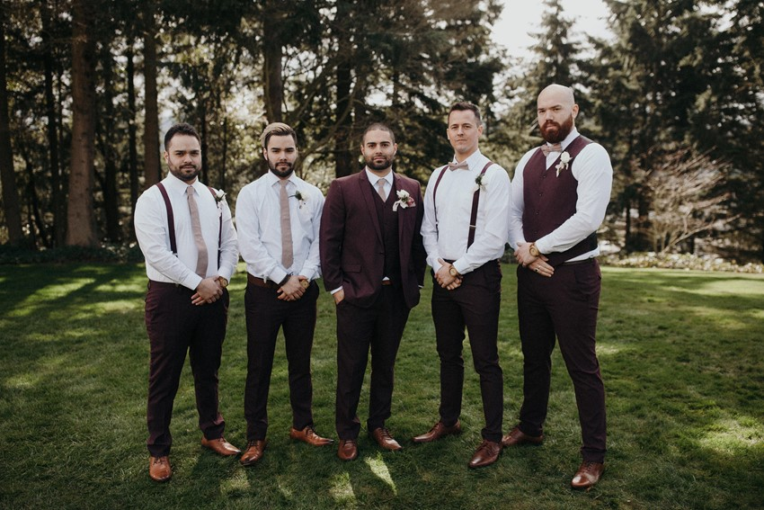 Vintage Inspired Fall Groom & Groomsmen