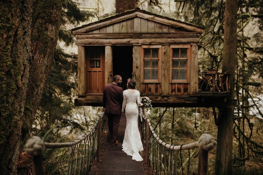 Treehouse Pacific Northwest Wedding