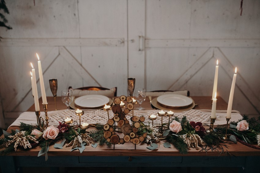 Boho Vintage Sweetheart Table