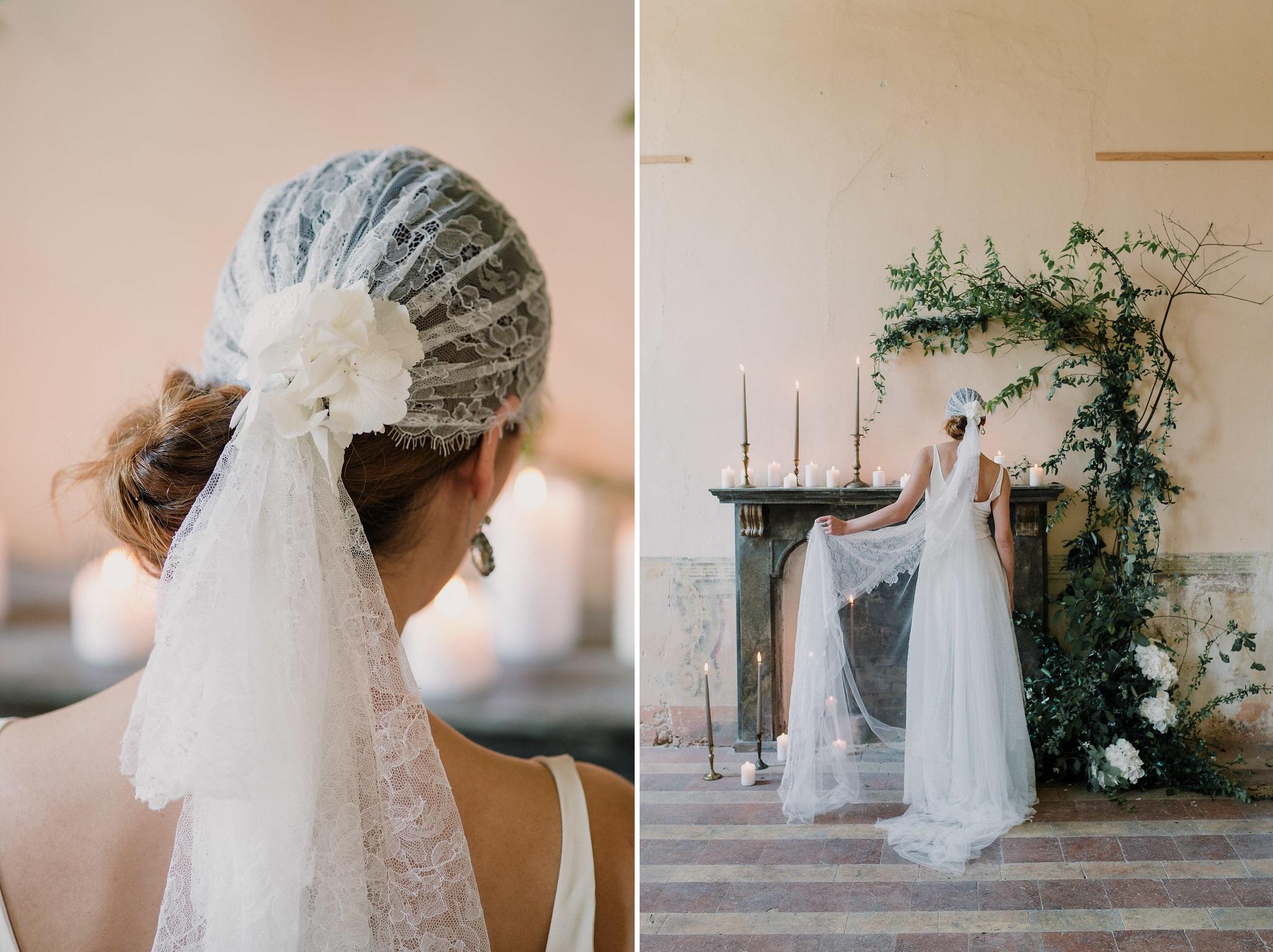 Lace Cap Bridal Veil